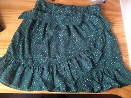 America Today Wraparound Skirt petrol-dark green