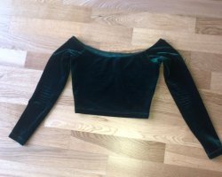 American Apparel Cropped Top dark green