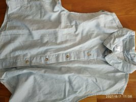 American Apparel Mouwloze blouse lichtblauw