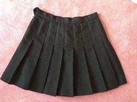 American Apparel Falda a cuadros negro