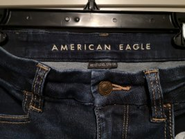 American Eagle Outfitters Hoge taille jeans donkerblauw
