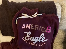 american eagle Hooded Sweater bordeaux