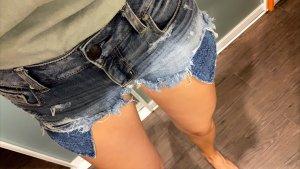 American Eagle Outfitters Denim Shorts azure-cornflower blue