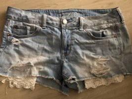 American Eagle Outfitters Denim Shorts white-blue