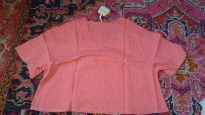 American Vintage Leinen Shirt Gr. M Rosa neu boxy