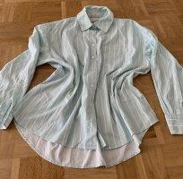 American Vintage Blouse oversized blanc-turquoise