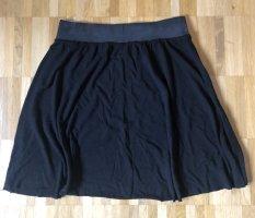 American Vintage Wollen rok zwart-antraciet