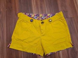 Amisu kurze Hosen Shorts aus Baumwolle in gelb Gr. 34
