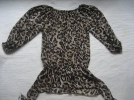 amisu new yorker tunika bluse leoprint gr. xs 34 top