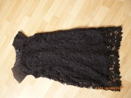 Amisu Robe en dentelle noir tissu mixte