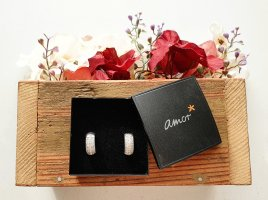 amor Ear Hoops silver-colored