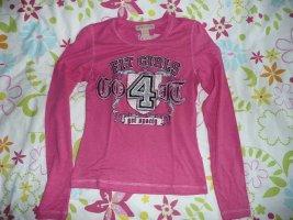 Amor & Psyche softes Langarm Shirt mit Swarovski Strass in Pink