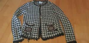 Amy Vermont Strickjacke in Boucle Look Hahnentritt Muster Gr. 36