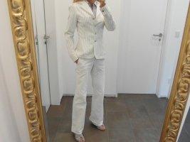 Ana Alcazar Blazer in jeans bianco-nero
