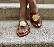 Sandalias cómodas multicolor Cuero