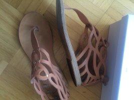 Ancient greek sandals Sandalias con talón descubierto nude-beige