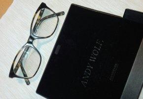 Andy Wolf Eyewear Lunettes brun noir-vert olive acétate