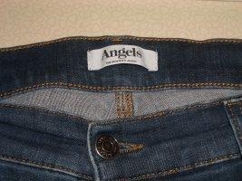 angels jeans Jeansy ze stretchu niebieski Bawełna