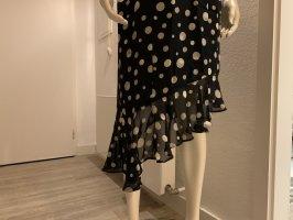 Angie Chiffon jurk zwart-wit Viscose