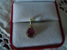 Harry Ivens Pendant gold-colored-dark red