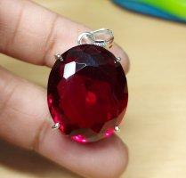 Anhänger mit rotem Kristall ( 2,7 )
