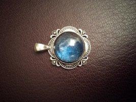 Pendant silver-colored-blue