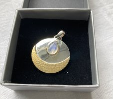 """Anhänger von Collection Inner Light """"Intuition"""" 925 Silber Mondstein teilvergoldet"""