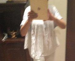 Aniston Blusa taglie forti bianco-azzurro