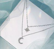 ANKE Accessoires Art Srebrny łańcuch biały