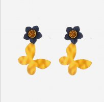ANKE Accessoires Art Ear stud yellow-dark blue metal