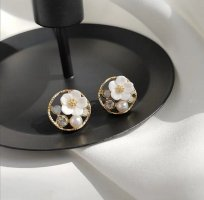 ANKE Accessoires Art Ear stud white-gold-colored metal