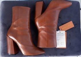 Ankle Boots Dries van Noten cognac hellbraun 37 Kalbsleder