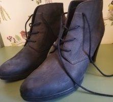 Ankle Boots, Fettleder