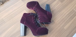 H&M Ankle Boots blackberry-red-brown violet