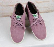Ankle Boots Sportlich Schnürschuhe Lacoste Größe 39 Rosa Altrosa Leder Sneaker Schuhe