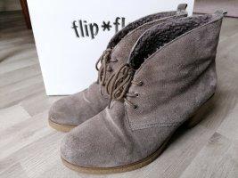 Ankle Boots Stiefeletten grau  Flip Flop
