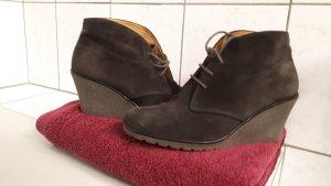 Ankle Boots Wedges Kalbsvelour Leder grau von Gabor
