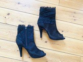 Peep Toe Booties black lace