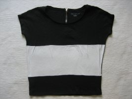 Ann Taylor Blusa sin mangas negro-blanco