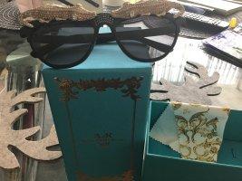 Anna Dello Russo for H&M Ovale zonnebril zandig bruin-zwart