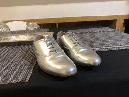 Anna Field Chaussures à lacets argenté-beige
