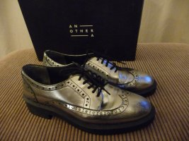 AnOther A Brogue Schnürschuh  Leder Silber Gr. 39