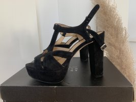 Another A Plateau Sandalen High Heels Velours Schwarz 39