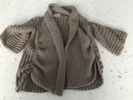 Anthropologie Coarse Knitted Sweater light brown-grey brown wool