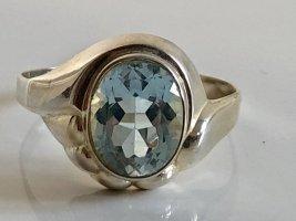 Antik 333 Gold Ring Art Deco Goldring Edelstein aquamarin topas hellblau edelstein