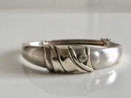 Antik 925 Sterling Silber Armreif Armspange Klapparmreif Juwelierstück handgefertigt
