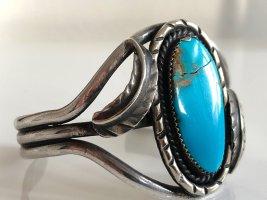 Antik 925 Sterling Silber Navajo Armband Armreif Türkis