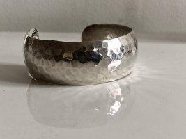 Antik 925er Silber Armband Armreif Hammerschlag Luxus Vintage Armspange offen gehämmert Juwelierstück