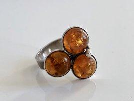 Antik Bernstein Cabochon 835 Silber Ring Silberring Juwelierstück Meisterpunze