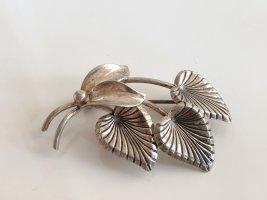 Vintage Brooch silver-colored real silver